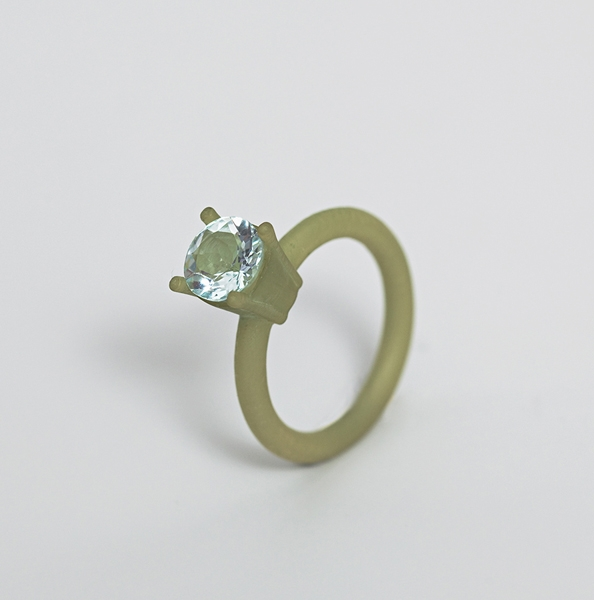 """<span class=""""prodinfo"""">'REALPLASTIC' — rings, blue, green<br /> <em>Total hight </em> 25–32 mm<br /> <em>Material</em> 3Dprint, hand coloured, various precious stones<br /> <em><strong>Price € 210.– sold out</strong></em></span><a href=""""mailto:jantje@jantjefleischhut.com?subject=JANTJE%20FLEISCHHUT%20/%20Online%20Collection&body=The product of your dreams...%0A----------------------------------%0A'REALPLASTIC' — RING Price € 210.– %0A----------------------------------%0APlease leave your favorite selection/colour:%0A%0AName: %0A%0AAdress: %0A%0ACity: %0A%0A%0AWe will give you a message for the procedure.%0AJANTJE FLEISCHHUT jewellery is love%0A----------------------------------%0AAll prices are inclusive VAT and exclusive delivery charges.%0AAll prices announced in the Online Gallery handled carefully however without engagement.%0AThe exact delivery date cannot be specified of articles sent abroad.%0ADelivery will take place on full payment."""" class=""""buy"""" title=""""You need a Email-Client to order products."""">Buy this</a>"""