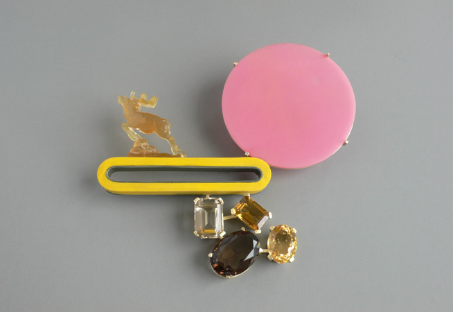 "<span class=""prodinfo"">pink moon above  brooch 2007<br />